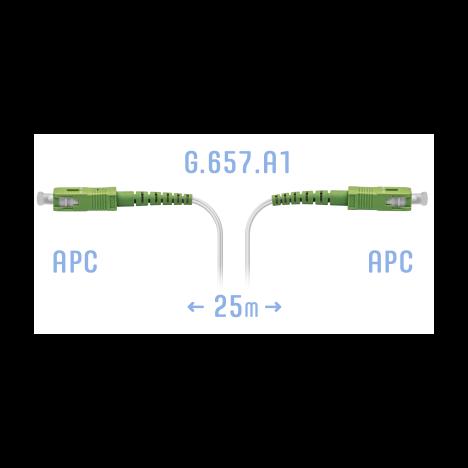 Патчкорд оптический FTTH SC/APC, кабель 604-02-01W, 25 метров