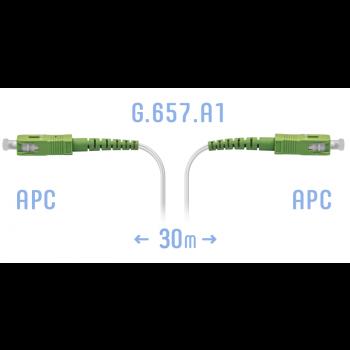 Патчкорд оптический FTTH SC/APC, кабель 604-02-01W, 30 метров