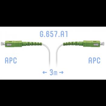 Патчкорд оптический FTTH SC/APC, кабель 604-02-01W, 3 метра