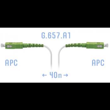 Патчкорд оптический FTTH SC/APC, кабель 604-02-01W, 40 метров