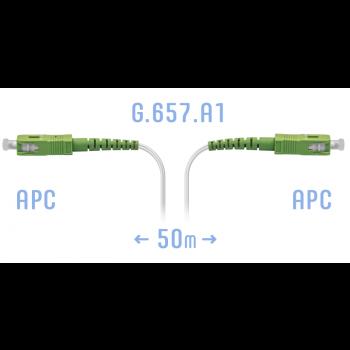 Патчкорд оптический FTTH SC/APC, кабель 604-02-01W, 50 метров