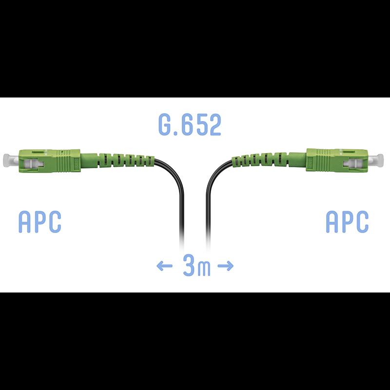 Патчкорд оптический FTTH SC/APC, кабель 604-12-01, 3 метра