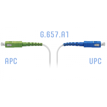 Патчкорд оптический FTTH SC/APC-SC/UPC, кабель 604-02-01W, 75 метров