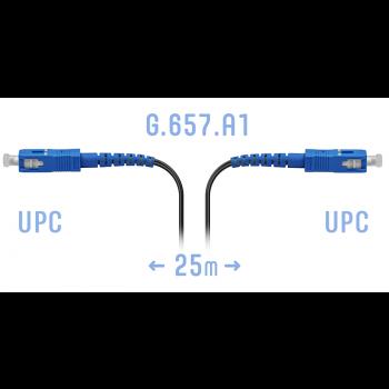 Патчкорд оптический FTTH SC/UPC, кабель 604-04-01, 25 метров