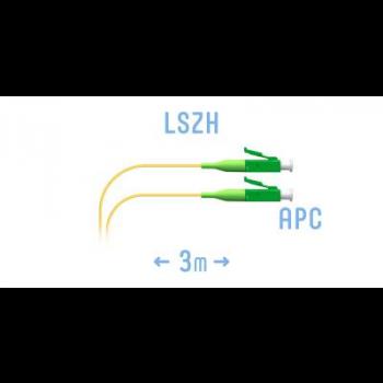 Шнур монтажный оптический LC/APC SM 3м. (0,9)