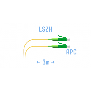 Шнур монтажный оптический LC/APC SM 3м.