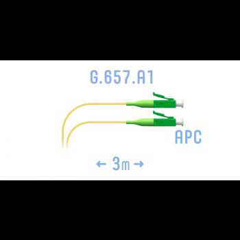 Шнур монтажный оптический LC/APC SM G.657.A1 3 метра