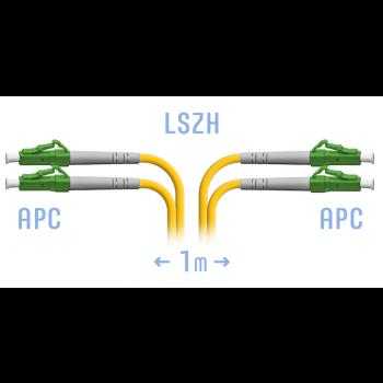 Патчкорд оптический LC/APC SM Duplex 1 метр