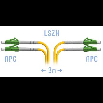 Патчкорд оптический LC/APC SM Duplex 3 метра