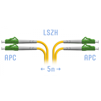 Патчкорд оптический LC/APC SM Duplex 5 метров