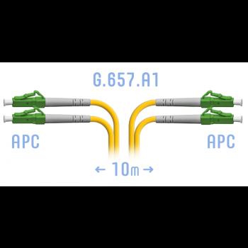 Патчкорд оптический LC/APC SM G.657.A1 Duplex 10 метров