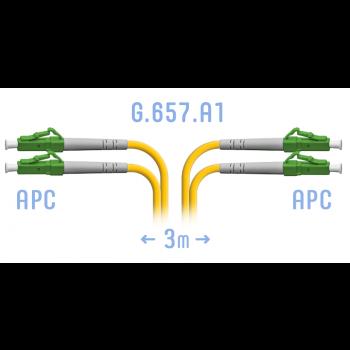 Патчкорд оптический LC/APC SM G.657.A1 Duplex 3 метра