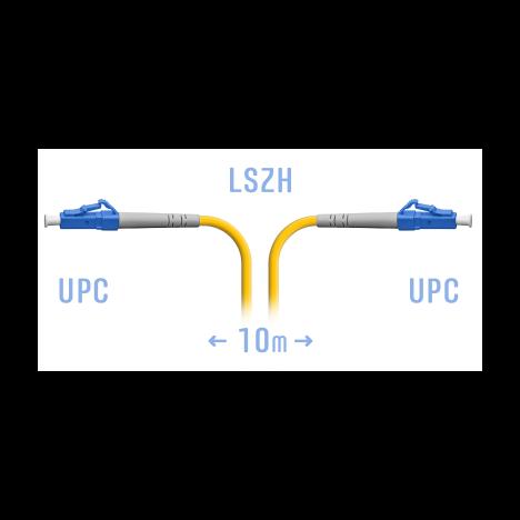 Патчкорд оптический LC/UPC SM 10 метров