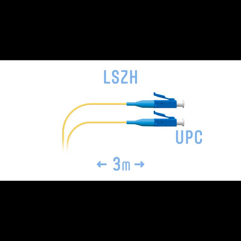 Шнур монтажный оптический LC/UPC SM 3m