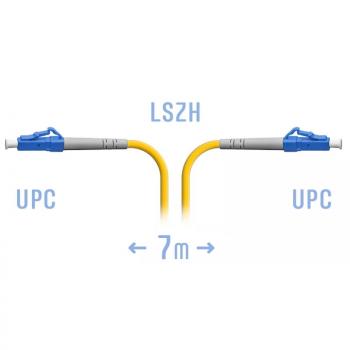Патчкорд оптический LC/UPC SM  7 метров