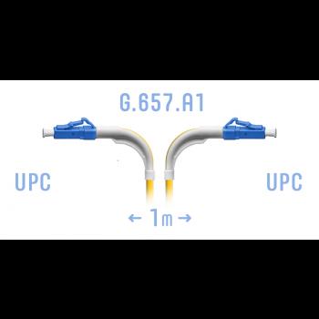 Патчкорд оптический LC/UPC SM G.657.A1 (угловой) 1 метр