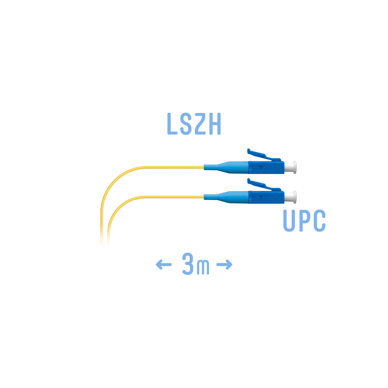 Шнур монтажный оптический LC/UPC SM G.657.A1 3 метра
