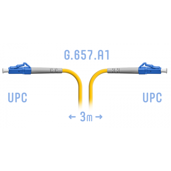 Патчкорд оптический LC/UPC SM G.657.A1 3 метра