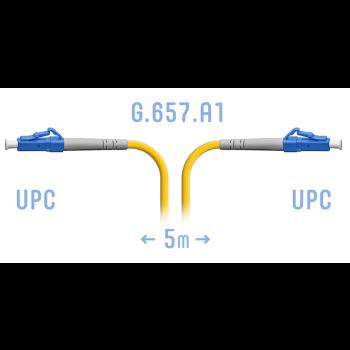 Патчкорд оптический LC/UPC SM G.657.A1 5 метров