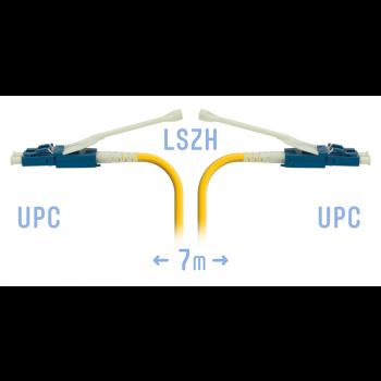Патчкорд оптический LC/UPC SM Duplex (HD) 7 метров, волокно G.657.A1