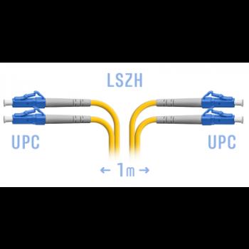 Патчкорд оптический LC/UPC SM Duplex  1 метр