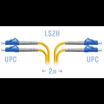 Патчкорд оптический LC/UPC SM Duplex  2 метра