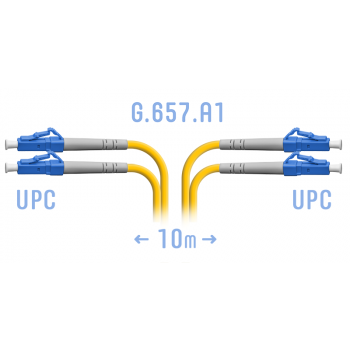 Патчкорд оптический LC/UPC SM G.657.A1 Duplex 10 метров