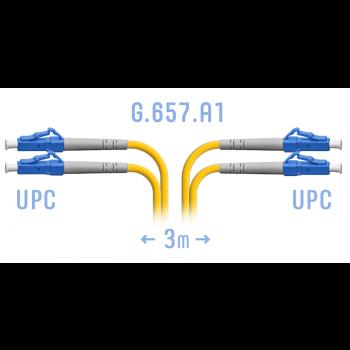 Патчкорд оптический LC/UPC SM G.657.A1 Duplex 3 метра