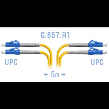 Патчкорд оптический LC/UPC SM G.657.A1 Duplex 5 метров