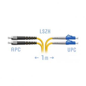 Патчкорд оптический LC/UPC-FC/APC SM Duplex 1 метр