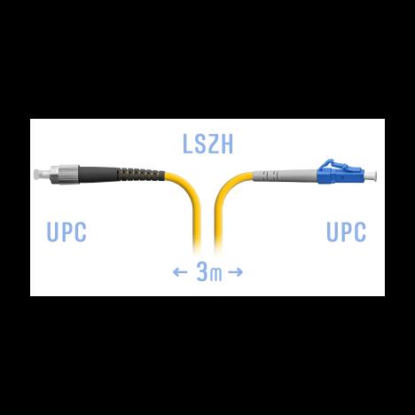 Патчкорд оптический LC/UPC-FC/UPC SM 3метра