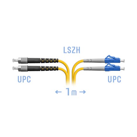 Патчкорд оптический LC-FC/UPC SM Duplex 1метр