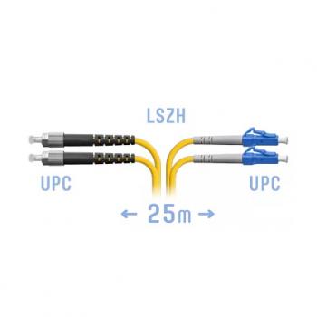 Патчкорд оптический LC/UPC-FC/UPC SM Duplex 25 метров