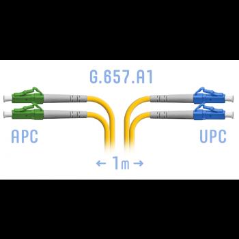 Патчкорд оптический LC/UPC-LC/APC SM G.657.A1 Duplex 1 метр