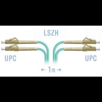 Патчкорд оптический LC/UPC MM Duplex 1метр