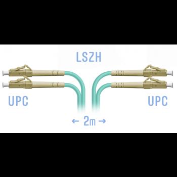 Патчкорд оптический LC/UPC MM Duplex 2 метра