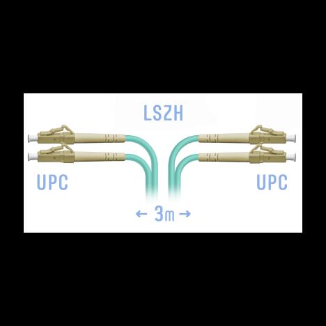 Патчкорд оптический LC/UPC MM Duplex 3 метра