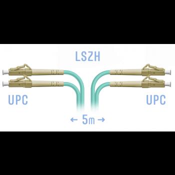 Патчкорд оптический LC/UPC MM Duplex 5 метров, 2 мм