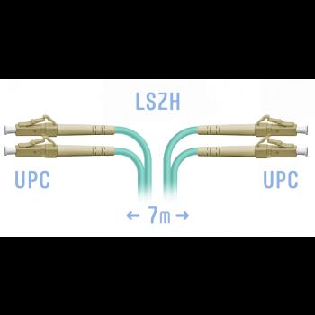 Патчкорд оптический LC/UPC MM Duplex 7 метров