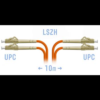 Патчкорд оптический LC/UPC MM (OM2) Duplex 10 метров