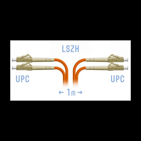 Патчкорд оптический LC/UPC MM (OM2) Duplex 1 метр