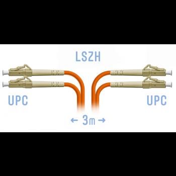 Патчкорд оптический LC/UPC MM (OM2) Duplex 3 метра