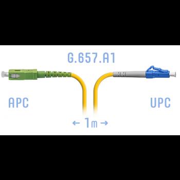 Патчкорд оптический LC/UPC-SC/APC SM G.657.A1 1 метр