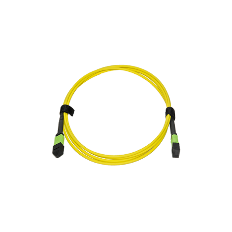 Патчкорд оптический MPO/APC FF SM, 12 волокон, 2 метра (Cross)