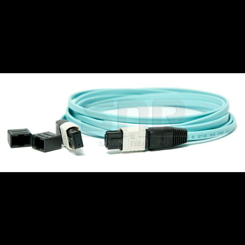 Патчкорд оптический MPO/PC FF MM (50/125 OM3) 12 волокон 1 метр