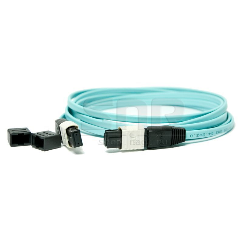Патчкорд оптический MPO/PC FF MM (50/125 OM3) 12 волокон 2 метра