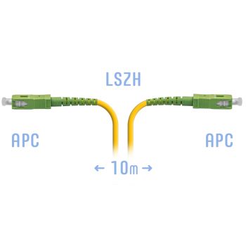 Патчкорд оптический SC/APC SM 10метров
