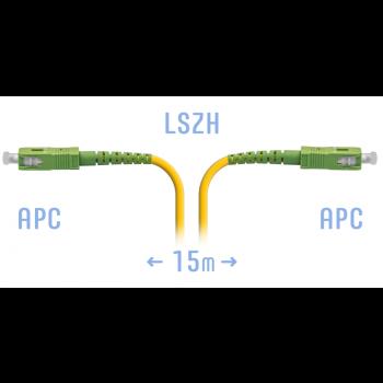 Патчкорд оптический SC/APC-SM 15метров