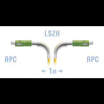 Патчкорд оптический SC/APC SM (угловой)  1метр