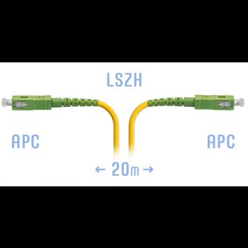 Патчкорд оптический SC/APC SM 20 метров